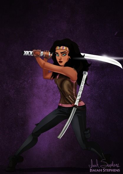Esmeralda do filme 'O Concunda de Notre Dame' virou Michonne de 'The Walking Dead'.