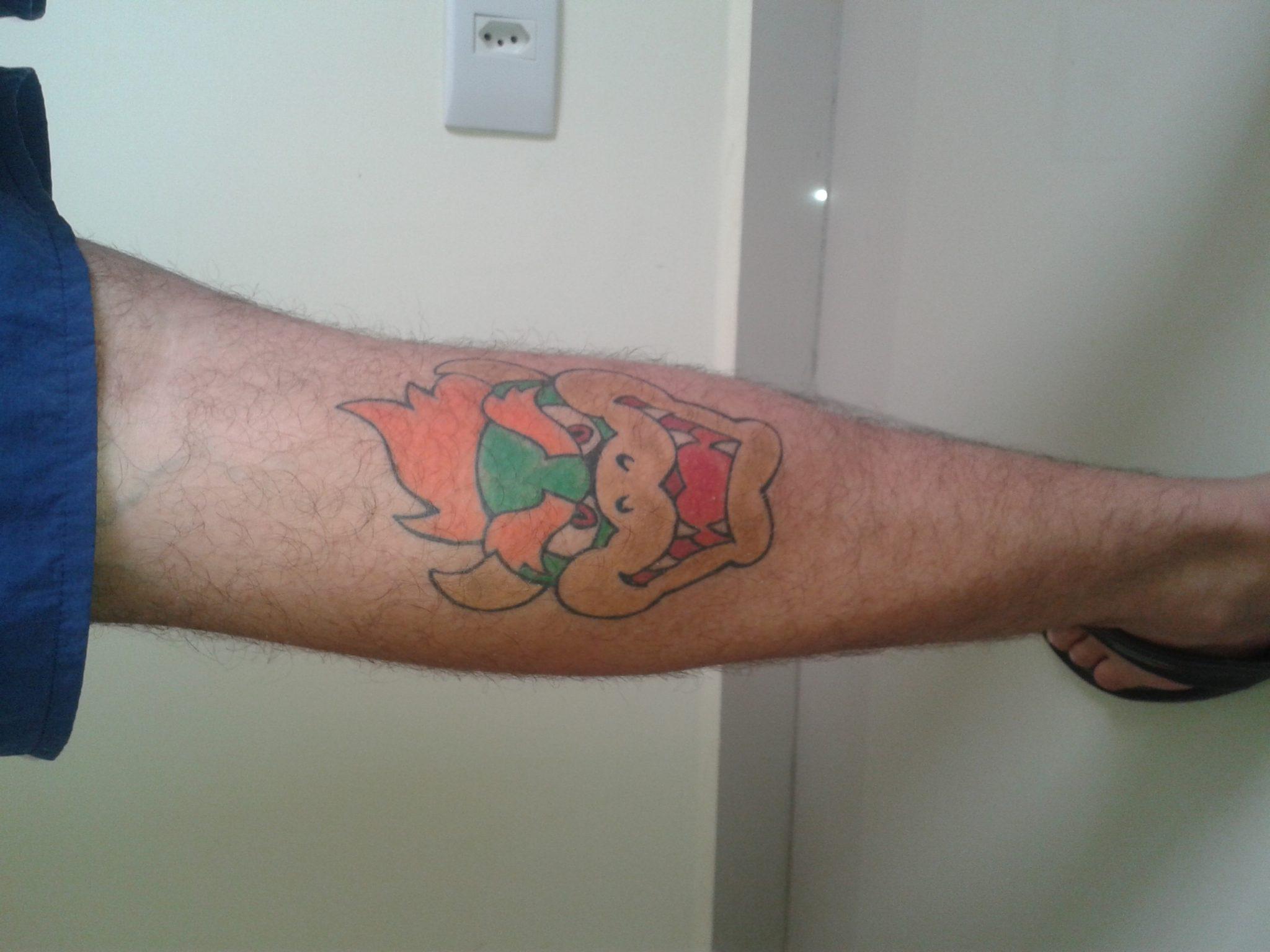 Tatuagem feita pelo Max do estudio el cuervo quando ainda era só um garoto!