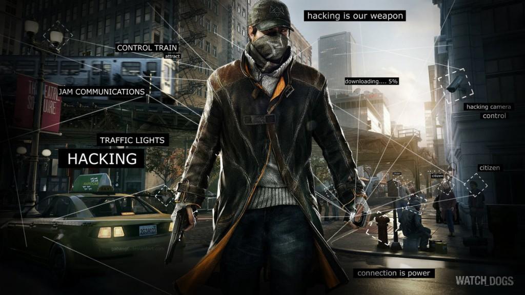 Watch Dogs traz um hacker, chamado Aiden Pierce que usa toda uma cidade como arma para combater o crime e a corrupção.