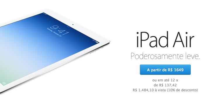 Apple começa a vender seus iPad's por preços especiais destinados a estudantes e profissionais da educação.