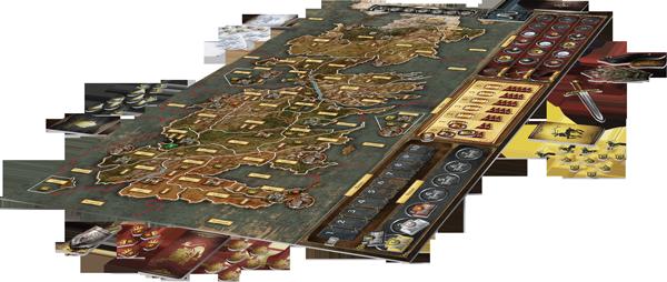 Lindo tabuleiro retratando o continente de Westeros