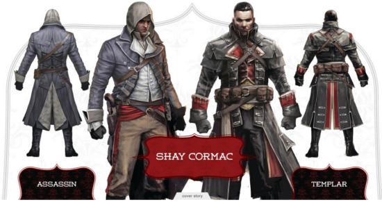 Shay Patrick Cormac irá trair a ordem dos assassinos e unir-se aos Templários.