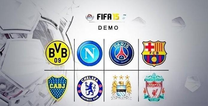 Confira os times disponíveis na demo de FIFA 15.