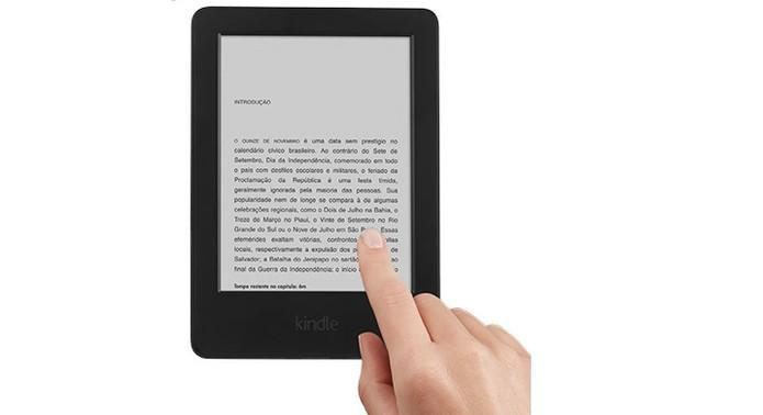 Novo Kindle da Amazon conta com tela touchScreen