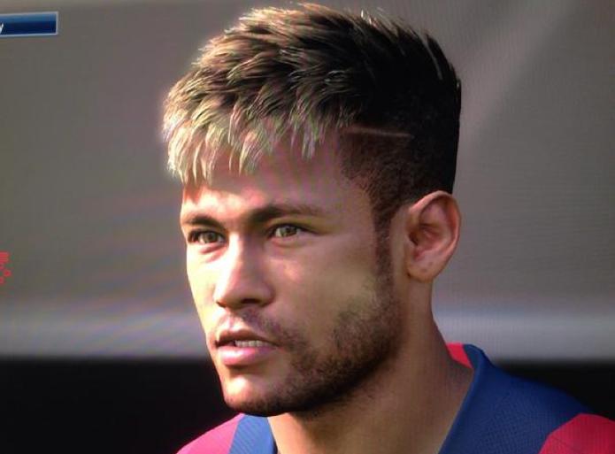 Os gráficos de PES são um show a parte, confira a imagem de Neymar no jogo.