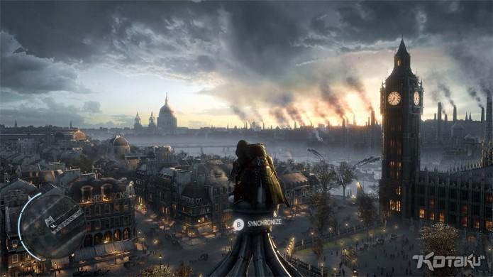 """Assassin's Creed Victory mostra Londres do século XIX com o """"Big Ben"""" ao fundo."""