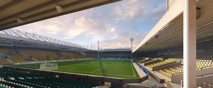 Carrow Road, estádio do recém promovido Norwitch.