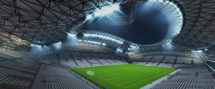 Stade Vélodrome, do Olympique de Marseille está de volta com cara nova.