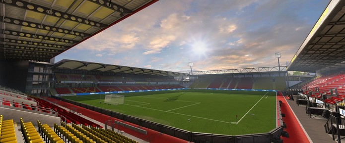 Vicarage Road, estádio do também promovido Watford.