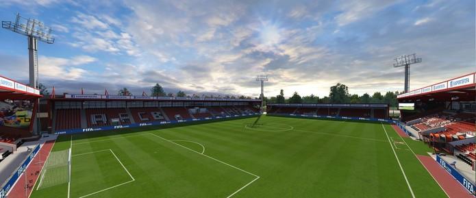 Vitality Stadium, estádio do atual campeão da Championship, que é segunda divisão inglesa, o Bournemouth.