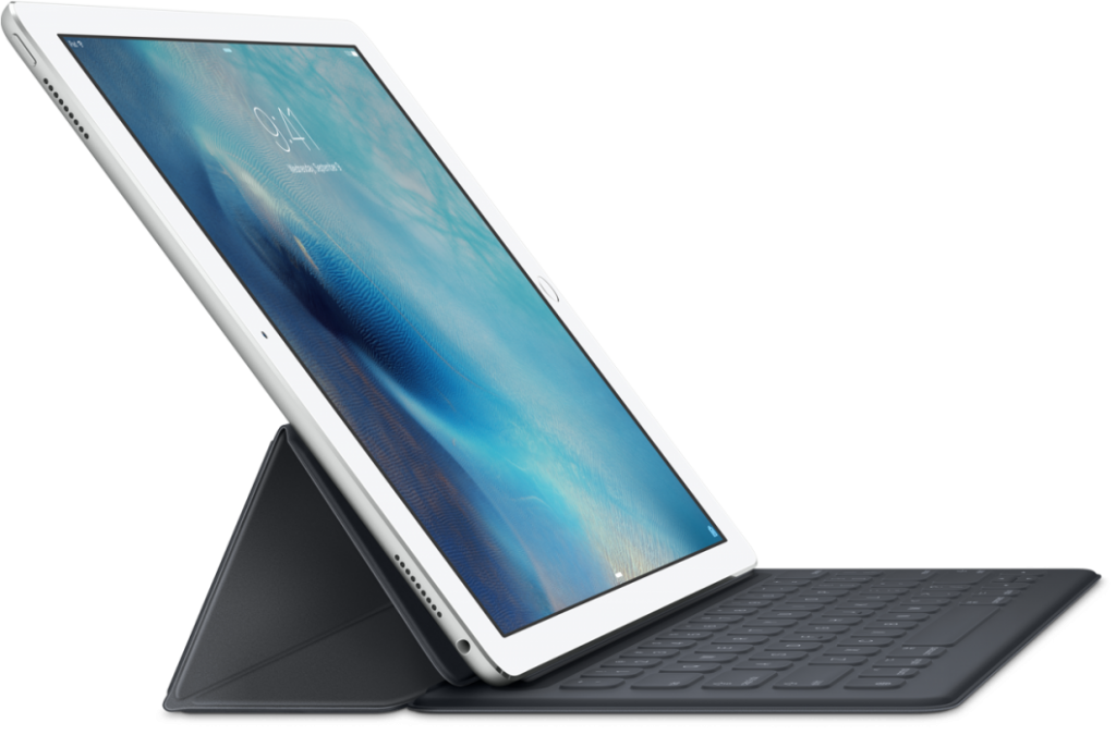 iPad Pro com Smart Keyboard.