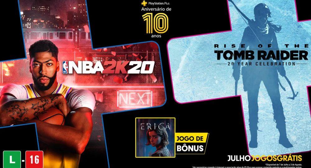 Jogos grátis PS Plus Julho 2020