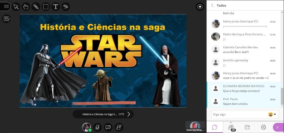 Aulão com tema Star Wars