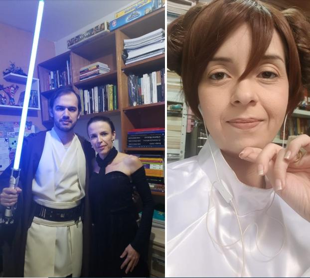 Professores da rede Marista de Goiânia caracterizados para o aulão com tema Star Wars