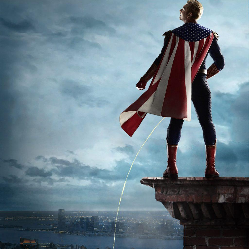 Homelander no poster da 2ª temporada de The Boys