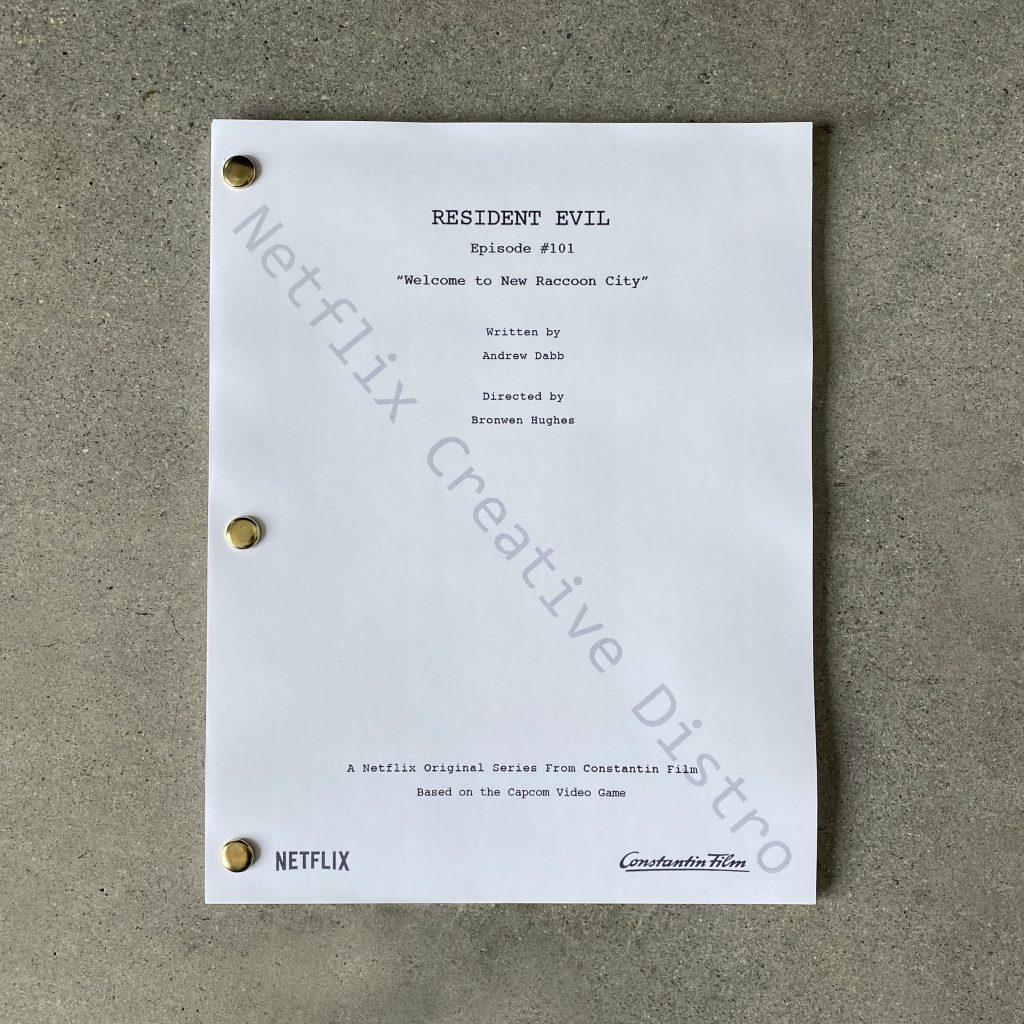 Roteiro da série live action de Resident Evil.