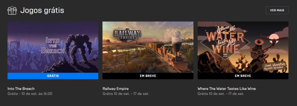 Jogos grátis Epic Games Store setembro 2020.