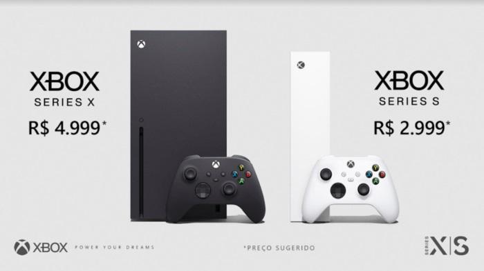 Preços do Xbox Series X e Xbox Series S no Brasil.