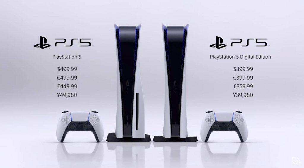 Preços do PS5.