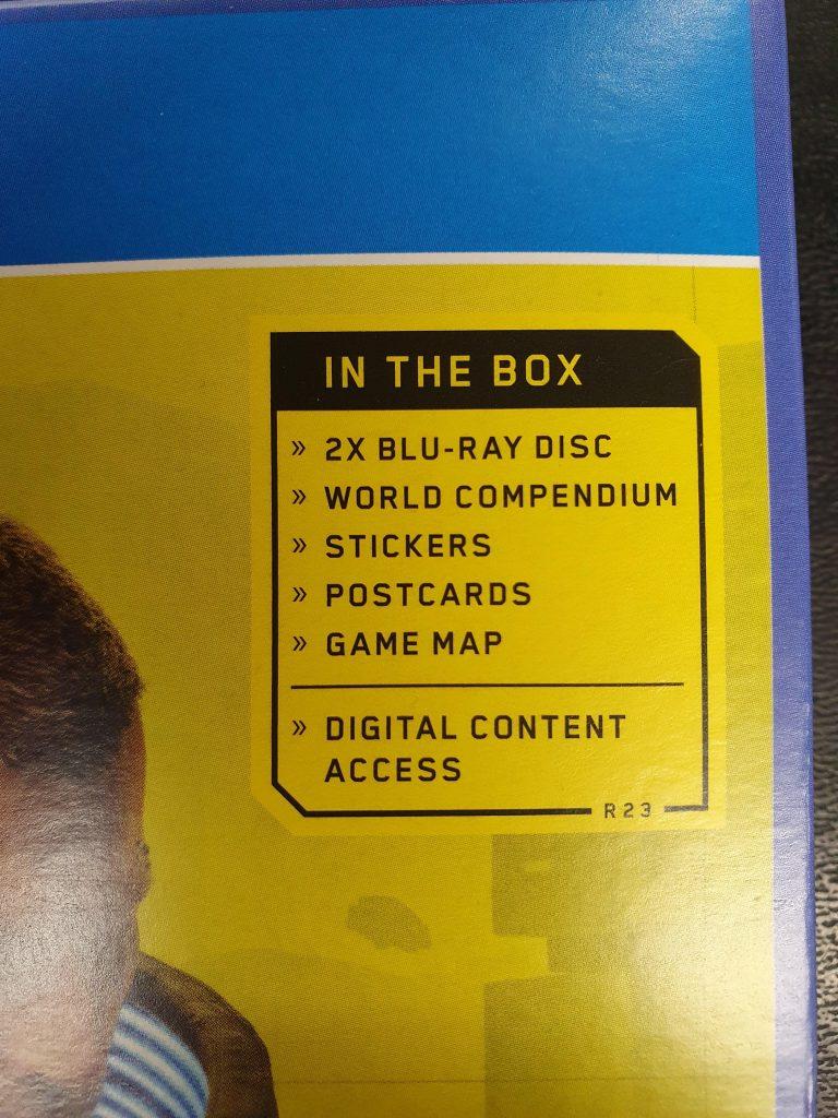 Cyberpunk 2077 virá em 2 discos.